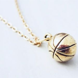 Gold Basketball Necklace. New! 🏀